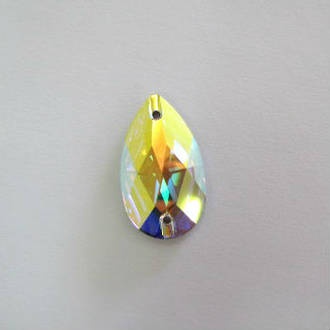 Swarovski AB Sew On Stone 28mm x 17mm