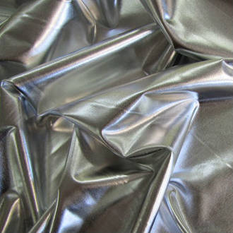 Silver Stretch Dance Fabric Shiny Liquid Foil Spandex