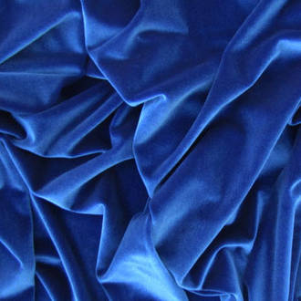 Royal Blue plush pile Velvet