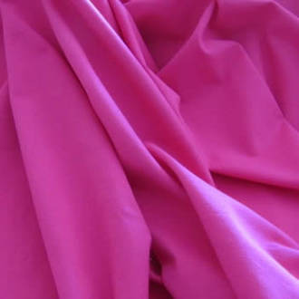 Fuschia Pink Combed Cotton Lycra 220gsm
