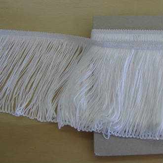 White Stretch Fringing 15cm