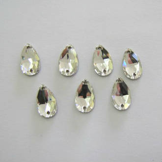 Swarovski Plain Sew On Stone 18mm x 10.5mm